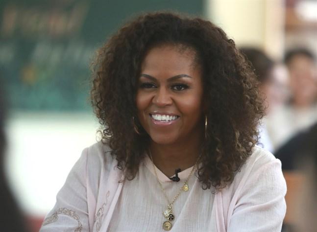 "Michelle Obama är programledare i den nya podden ""The Michelle Obama podcast"". Arkivbild."
