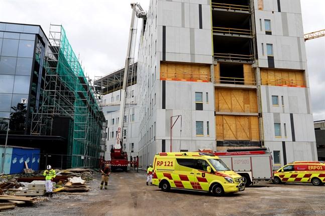 Räddningsverket ryckte ut till centralsjukhuset på torsdagen.