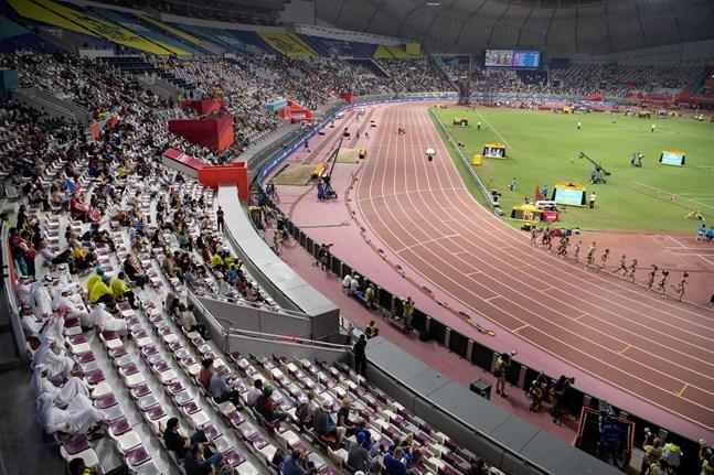 Friidrotts-VM avgjordes på Khalifa-stadion i Doha förra året. Arkivbild.