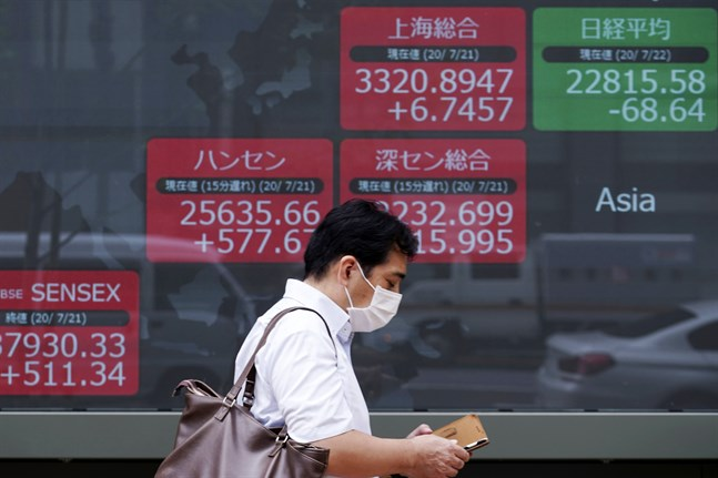 Nikkei225-index i Japan. Arkivbild.