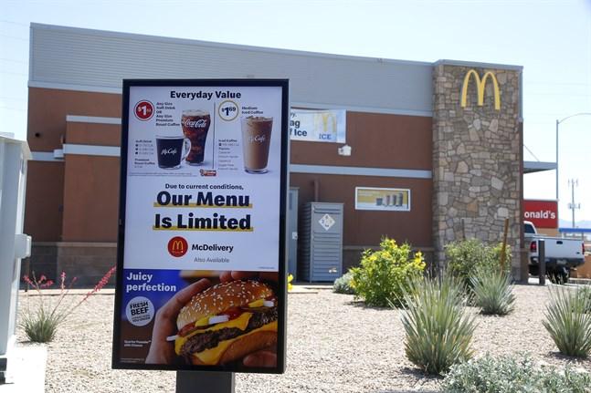 Coronakrisen står McDonald's dyrt. Arkivbild.