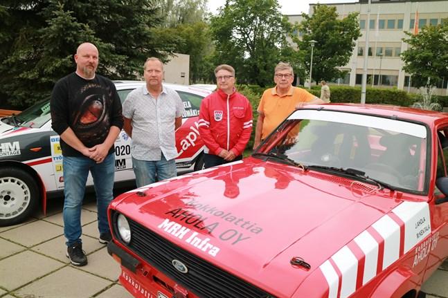 Jani Ahola, Jarmo Pöntiskoski, Jyrki Lampela och Anssi Räikkönen medverkar på olika plan i lördagens rally.