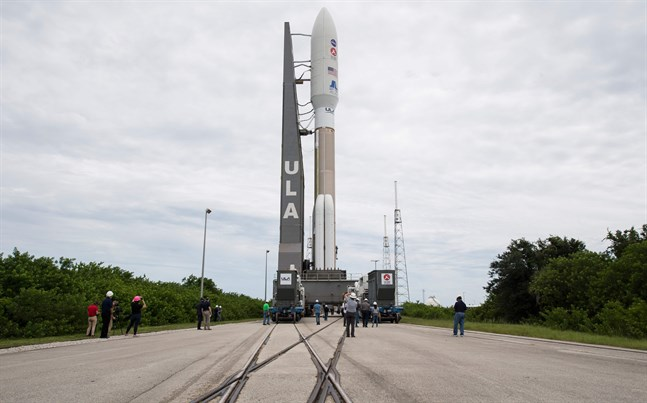 Rymdsonden lastad med Perseverance vid Nasas anläggning Cape Canaveral i Florida. Bild från tidigare i veckan.