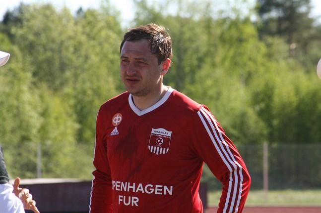 Oleksandr Muzyka gjorde Korsnäs FF:s tredje mål i Lappo.
