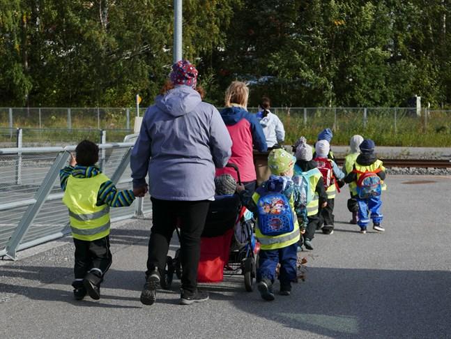 Gruppstorlekarna för treåringar minskar något.