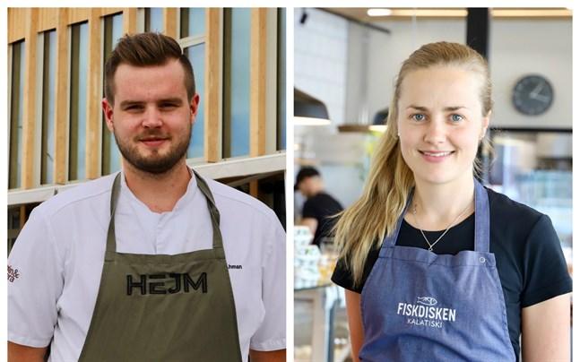 Verksamheten tog fart direkt Fiskets hus öppnade i fjol, säger Mattias Åhman på Hejm och Isabella Asplund på Fiskdisken.