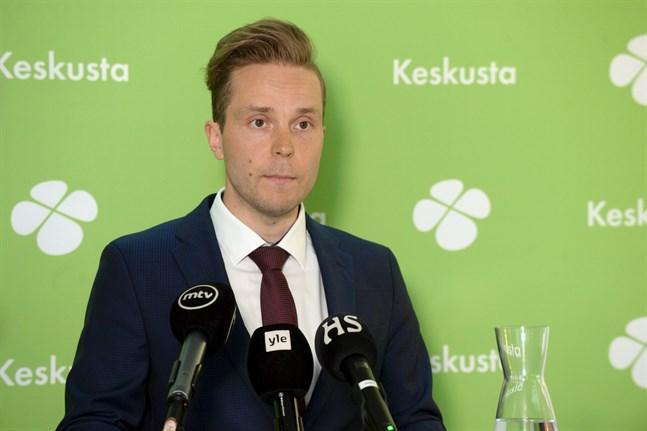 Petri Honkonen, 33, vill bli ny ordförande för Centern.
