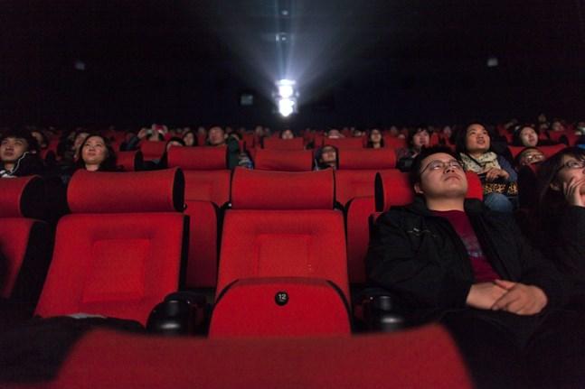 Biograf i Peking, Kina. Hollywood kritiseras för att anpassa filmer efter den censurtyngda kinesiska filmarknaden.