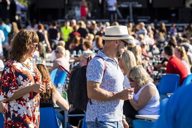 Rederierna och Visit Finland lägger fram förslag på hur man kan öppna upp resandet på ett tryggt sätt i sommar. Bilden är från Vasa Festival i fjol.