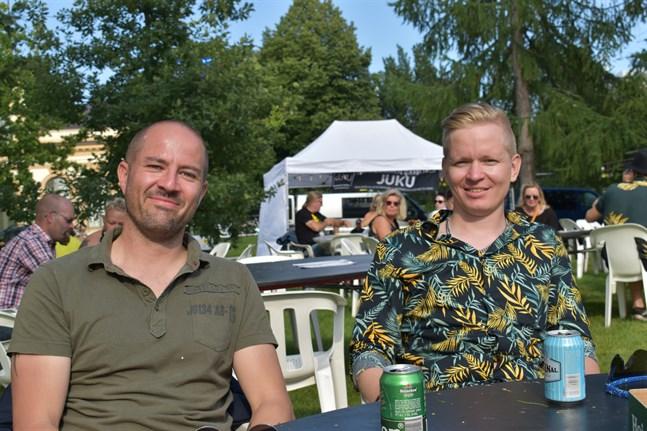 Sami Käld och Tony Mäki är på Vasa Festival för stämningens och gemenskapens skull.