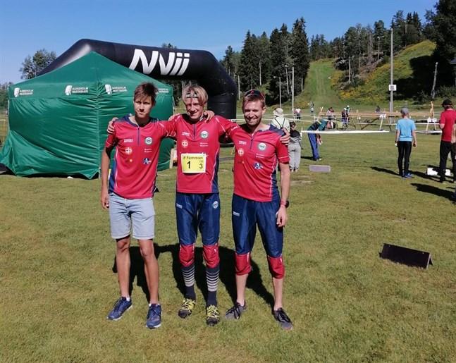 Valter Joensuu, Kim Fagerudd och Emil Jansson bildade Brahes guldlag.