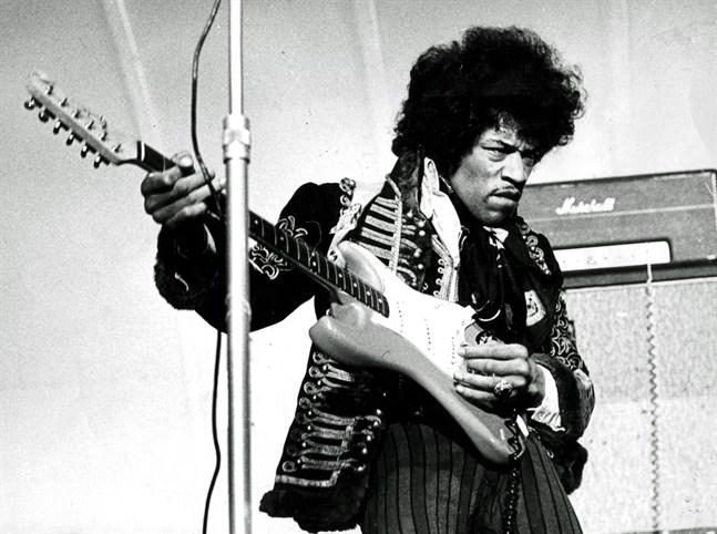 Jimi Hendrix på Gröna Lund 1967. Arkivbild.