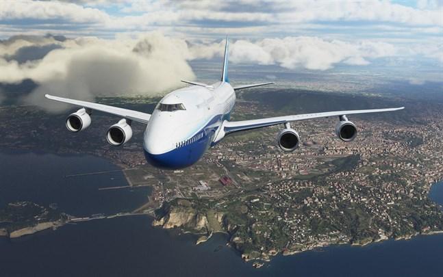 """I standardversionen av """"Microsoft flight simulator"""" finns 20 flygplan, däribland Boeings 747."""