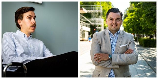 Matias Mäkynen (SDP) och Joakim Strand (SFP) är riksdagsledamöter från Vasa.