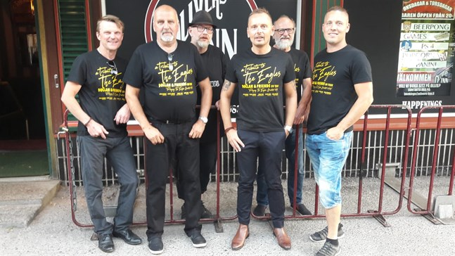 Dollan & Friends är (från vänster) Tomas Fant, Johan Hedman, Stefan Brokvist, Patrick Linman, Henrk Berg och Eddie Österåker.