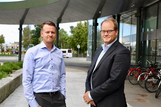 Petri Sandkvist och Johan Malm utvecklar området i Klemetsö tillsammans.