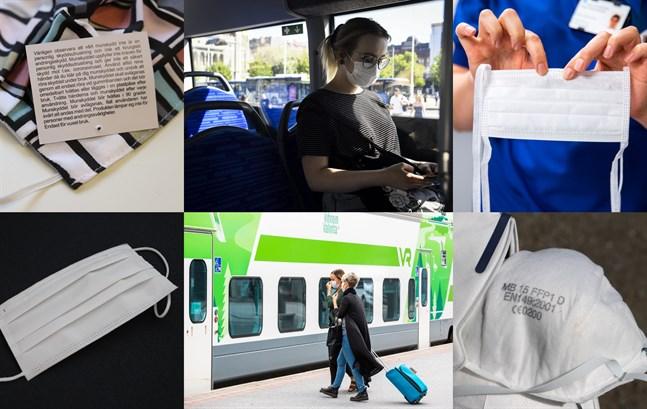 Munskydd och andningsskydd rekommenderas i kollektivtrafiken, men vilka modeller finns och hur fungerar de?