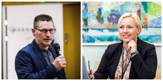 Mikael Lindvall och Johanna Holmäng vill båda bli kretsordförande för SFP i Österbotten.