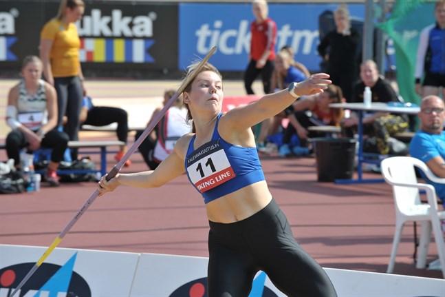 Minna Hollanti avslutade spjutkvalet på bästa sätt – med finalplats.