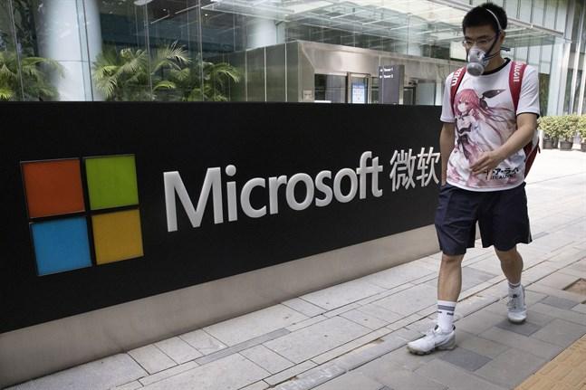 Microsoft har en huvudroll i spelet kring Tiktok. Bild från det amerikanska företagets kontor i Peking.