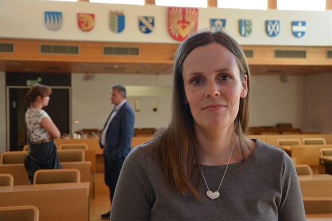 Att företagen går bra bidrar till inflyttningen i Närpes, konstaterar Johanna Borg.