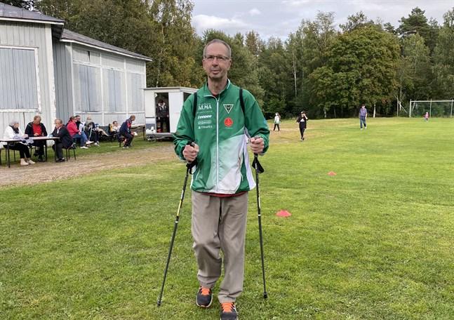 Juhani Riski har samlat in 184 000 euro till Kristiinan Urheilijat genom medelinsamlingsjippot Ärevarvet.