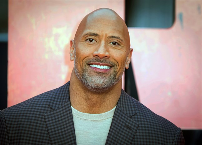 "Dwayne ""The Rock"" Johnson. Arkivbild."