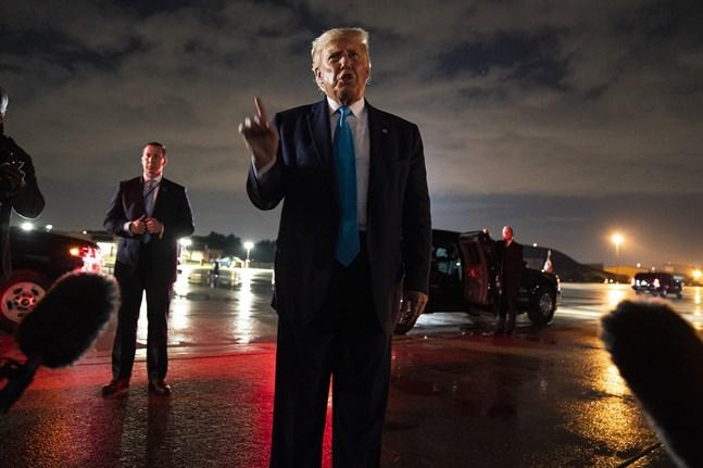 President Donald Trump vid en pressträff tidigare i veckan.