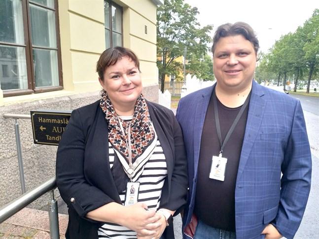Heidi Similä och Sakari Similä säger att den lokala närvaron är viktig för en disponentbyrå.