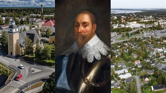 Nykarleby till vänster och Karleby (Gamlakarleby) till höger grundades båda samma dag av kung Gustav II Adolf. Men varför två städer så nära varandra? Och varför blev inte Pedersöre stad?