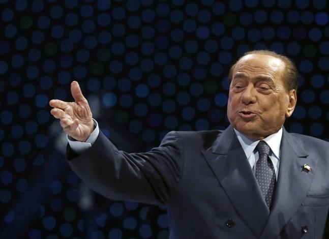 Silvio Berlusconi. Bild från ett tal han höll i november förra året.