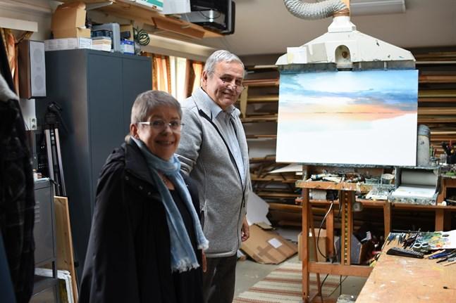 Det är här, i norra Näsby, som Stig Rosenlunds konst tar form. Han och Karin Lipkin-Forsén deltar i årets Konstrunda, som går av stapeln i helgen.