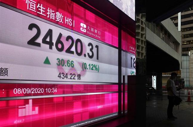 Börserna i Asien ligger mestadels på plus. Arkivbild.