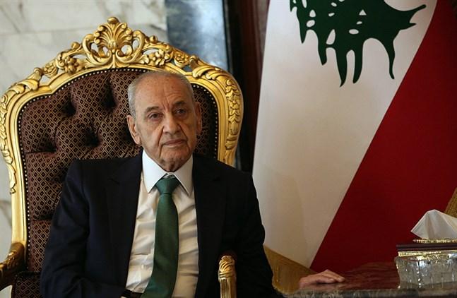 Nabih Berri, talman i det libanesiska parlamentet, gillar inte hur landets nya regering är tänkt att formas. Arkivbild.
