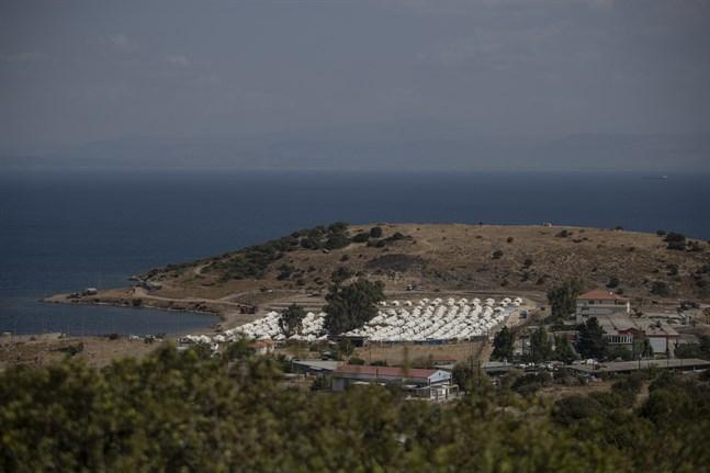 Det tillfälliga lägret i Kara Tepe.