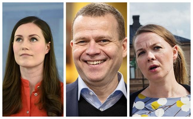 SDP:s ordförande Sanna Marin, Samlingspartiets ordförande Petteri Orpo och Centerns tidigare ordförande Katri Kulmuni bjuder alla på utspel som förtydligar partiernas ideologiska riktlinje.