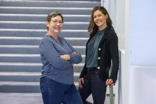 Ulrica Taylor och Eva Åstrand är två av kuggarna i projektet Hållbar kommunikation.