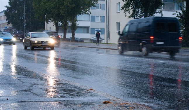 Nu kommer höstregnet. Bilden är tagen i september 2020.