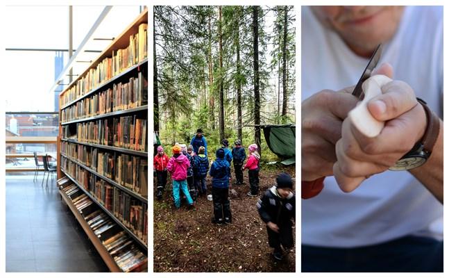 Läsa böcker, vistas utomhus och pyssla med hantverk är tre populära förslag på fritidsaktiviteter i höst.