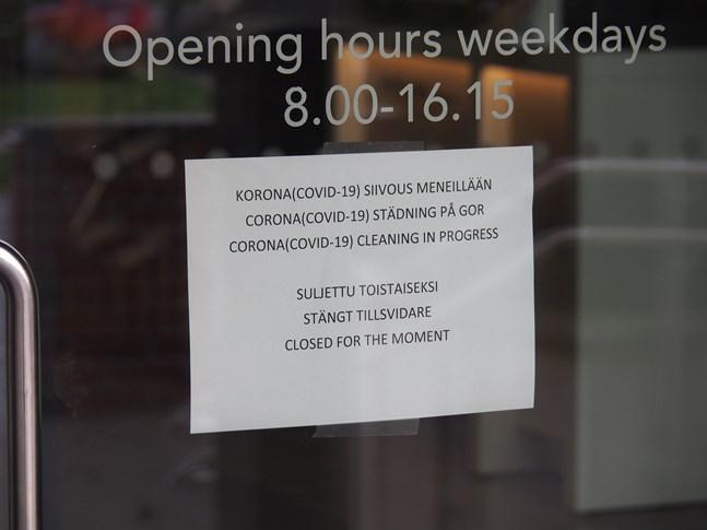 Ämbetshuset hölls stängt några timmar på fredag då en grundlig städning gjordes.