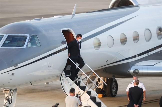 Keith Krach landade i Taiwan på torsdagen.