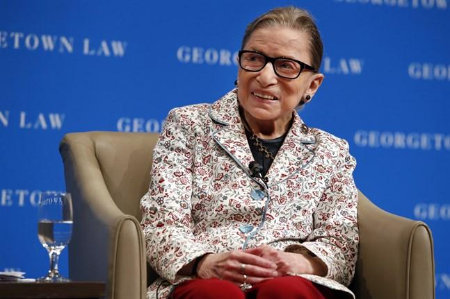 Ruth Bader Ginsburg 2018. Den populära domaren har gått bort, 87 år gammal.