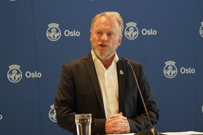 Kommunalrådet Raymond Johansen (AP) på måndagen.