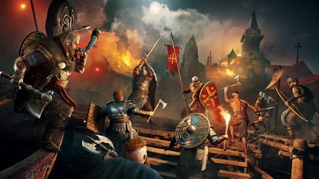 """Bland spelen som kommer att erbjudas finns flera titlar från spelserien """"Assassin's Creed"""", på bilden syns spelet """"Assassin's creed Valhalla""""."""