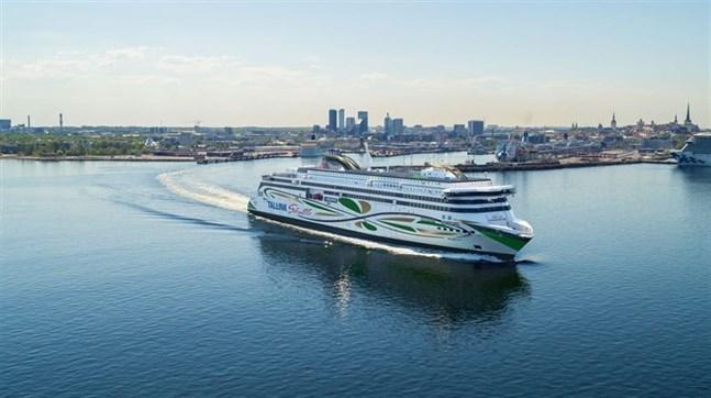 Tallinks shuttle-fartyg Megastar som trafikerar linjen Helsingfors-Tallinn kör tills vidare som normalt.