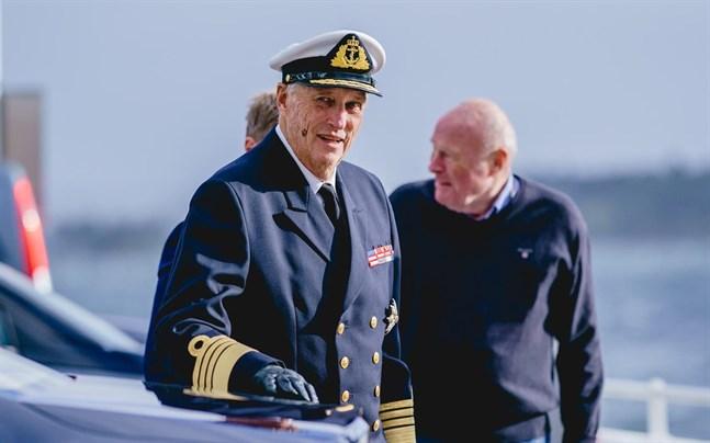 Kung Harald i Oslo på torsdagen.