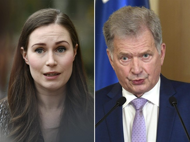 Sanna Marin och Sauli Niinistö.