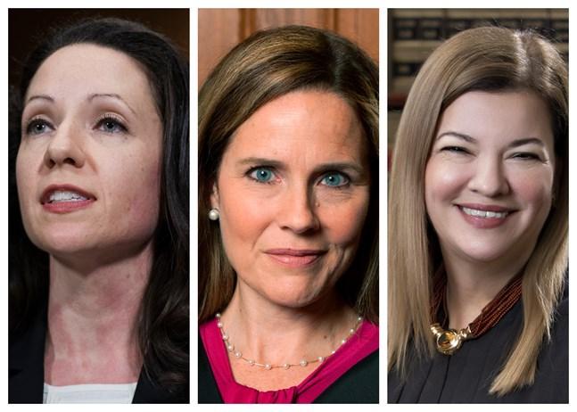 En av de här tre kvinnorna förutspås bli Ruth Bader Ginsburgs efterträdare i USA:s högsta domstol.