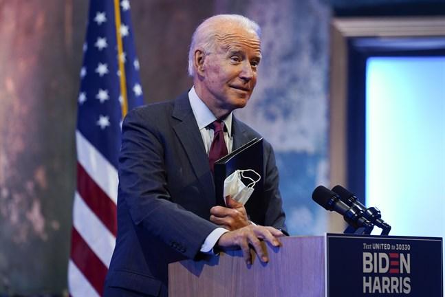 Demokraternas presidentkandidat Joe Biden har offentliggjort sin skattedeklaration för 2019. Arkivbild.