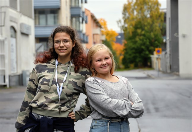 Isabel Hanna och Hilja Risku har varit vänner sedan förskolan.